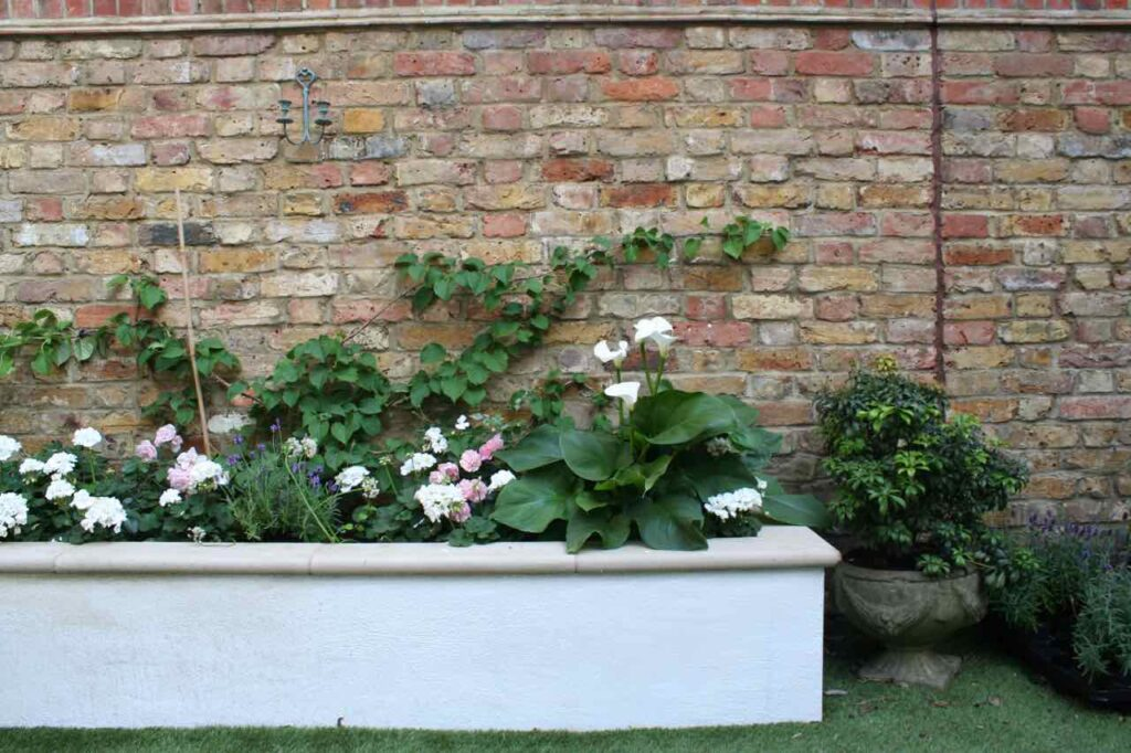 A raised, brick flower bed - perfect for bordering your urban garden