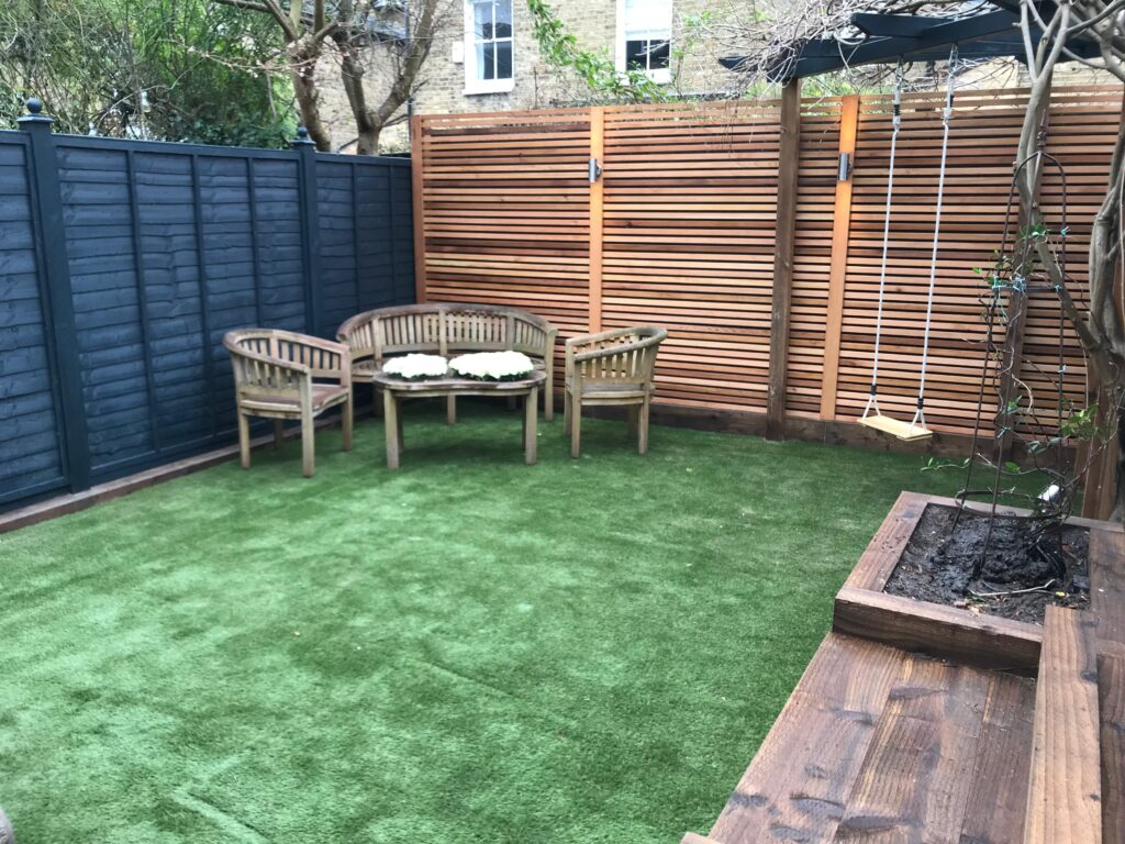 A completed garden transformation